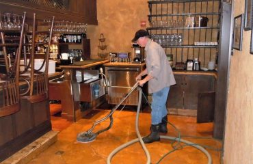 Commercial hard floor cleaning