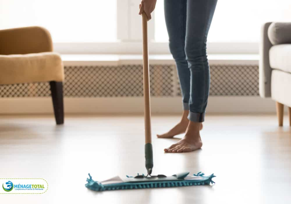 Remove debris from the floor