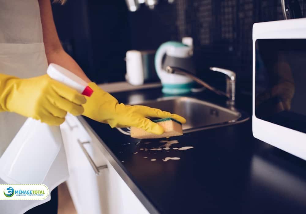 clean the kitchen